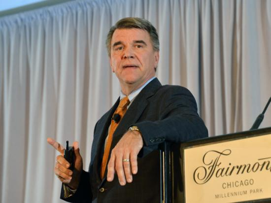 Chuck Conner, president and CEO of the National Council of Farmer Cooperatives, spoke Monday at the DTN/The Progressive Farmer Ag Summit in Chicago. (DTN photo by Jim Patrico)