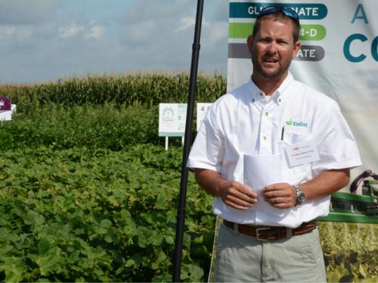 Cotton is very sensitive to 2,4-D, so growers will need to use the right nozzles and observe other spray precautions when using Enlist Duo, says Jonathan Siebert. (DTN/The Progressive Farmer photo by Virginia Harris)