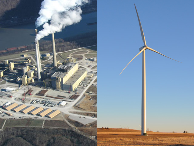 President Donald Trump and EPA Administrator Scott Pruitt both reiterated the U.S. would continue to be a leader in reducing emissions and overall environmental stewardship while still growing the U.S. economy. (Power plant photo courtesy of EPA; DTN photo of wind turbine by Emily Unglesbee)