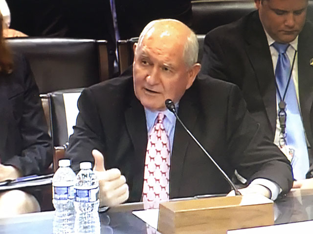 U.S. Secretary of Agriculture Sonny Perdue held a ceremony in Beijing, China, on Friday to mark the return of United States beef to the Chinese market. (DTN file photo)