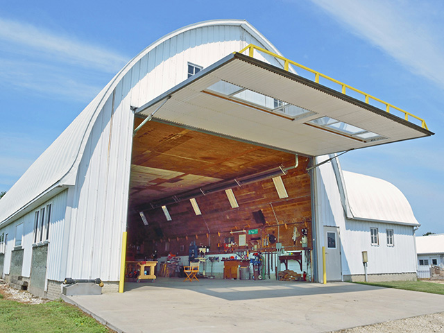 iowa farmer converts 65 year old barn to workable farm shop