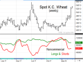 The accompanying chart shows spot Kansas City wheat prices off to a bullish start in 2018, fueled by concerns of drought in the southwestern U.S. Plains. Unsuspecting noncommercial traders have been under pressure to buy back their short commitments and still have more to cover (Source: DTN ProphetX).