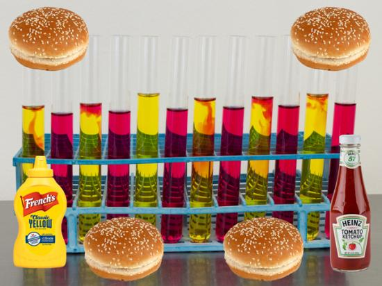 """If your hamburger originated from a test tube, can it still be called """"beef?"""" (Test tubes photo by O.S. Fisher, CC BY 2.0; DTN photo illustration by Nick Scalise)"""