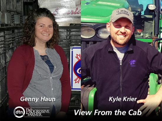 Our weekly reports highlight the many activities on the farm. Genny Haun reports in from Kenton, Ohio, and Kyle Krier details farm life and work from Claflin, Kansas. (Photos courtesy of Genny Haun and Kyle Krier)