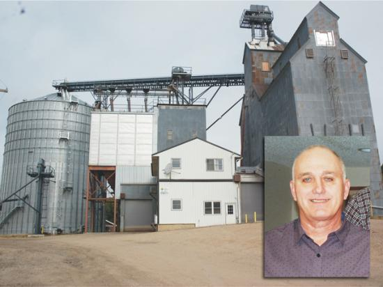 The Ashby Farmers Cooperative Elevator closed and is now for sale after former manager Jerry Hennessey (inset) was found to have racked up millions in personal spending on cooperative accounts for credit cards and travel. (Photos courtesy of the Battle Lake, Minnesota, Review)