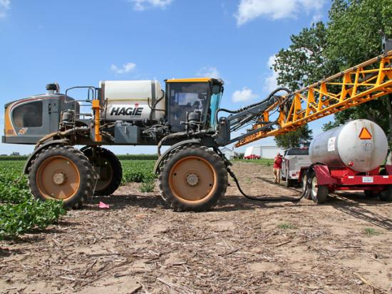 The EPA granted registration for a new dicamba premix in time for spraying this season. (DTN photo by Pamela Smith)