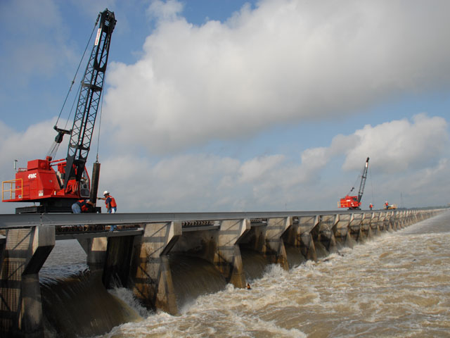 Bonnet Carre Spillway, located in St. Charles Parish, Louisiana. (Photo by U.S. Army Corps of Engineers)