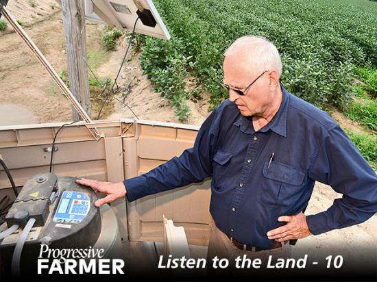 As part of the Arkansas Discover Farm program, Steve Stevens monitors water quality runoff, which helps him limit nutrient and soil loss. (DTN/Progressive Farmer photo by Charles Johnson)