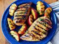 Grilled Chicken and Peaches, Image by Rachel Johnson