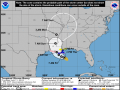 National Hurricane Center forecasts place the track of Tropical Storm Barry due north through the Mississippi Delta. (National Hurricane Center graphic)