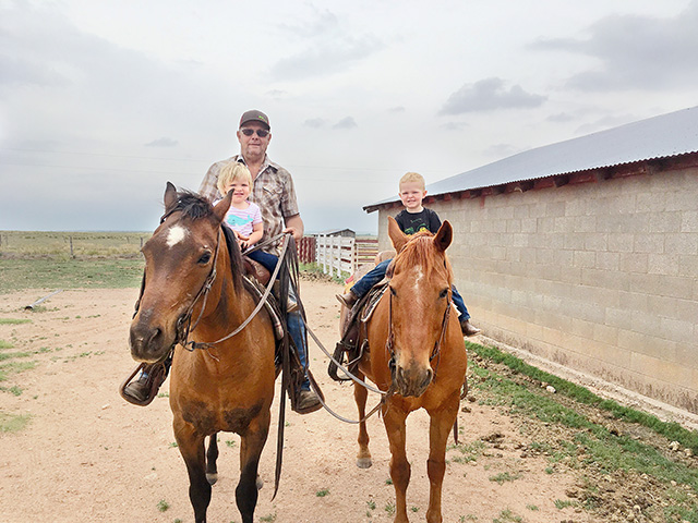 Sometimes adding a horse ride to the day's agenda is the best thing to do. (DTN/Progressive Farmer photo by Tiffany Dowell Lashmet)