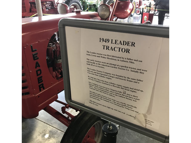 A 1949 Leader Tractor on display at the Auto and Farm Museum located in Branson, Missouri. The Leader Company only produced tractors for a few years in the mid- to late-1940s. Photo by Russ Quinn.""