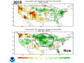 Soil moisture levels in the northern and central U.S. are near the top of historic rankings. (NOAA graphic)