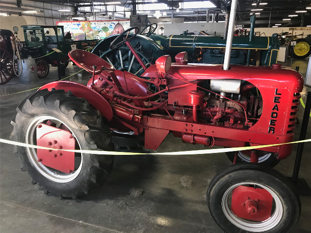 A Leader tractor on display. If you have a story about the rare tractor company please send it to DTN staff reporter Russ Quinn at russ.quinn@dtn.com to be run in a future Russ' Vintage Iron column. (courtesy The Stuart CCA-SA)