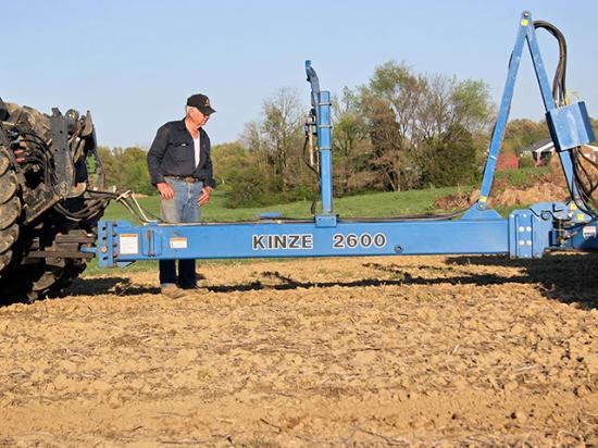 One of the checklist tips: Level your planter, adjust the planter tongue and drawbar to level or slightly higher in front to keep parallel linkages and closing wheels operating most efficiently. (DTN/Progressive Farmer photo by Dan Crummett)