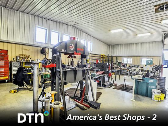 Reed Brothers Farms Shop has a large fabrication wing. It can tackle all farmwork with its complete line of metalworking and woodworking machinery. There is also space for welding. (DTN/Progressive Farmer photo by Mary Ann Carter)