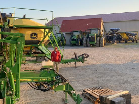 The auction will go on for Joe Nichols, of Seven Springs Farms in Cadiz, Kentucky. He's cutting back on machinery inventory to streamline operations. (Photo by Ashley Nichols)