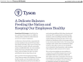 Tyson Foods' chairman wrote a letter that appeared in major newspapers over the weekend. Tyson cited that the food supply chain is at risk if the country cannot rally to ensure workers are safe and that food processing continues. (DTN image from Tyson letter)