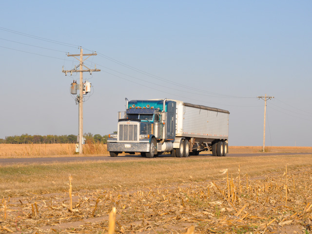 A national shortage of truck drivers poses problems for many farm operations. (DTN file photo)