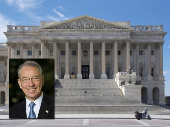 U.S. Sen. Chuck Grassley, R-Iowa, on Tuesday said a hearing is being planned for late September on the current state of the agricultural seed and chemical industries. (Courtesy photo of Sen. Grassley; U.S. Capitol photo by Nick Scalise)