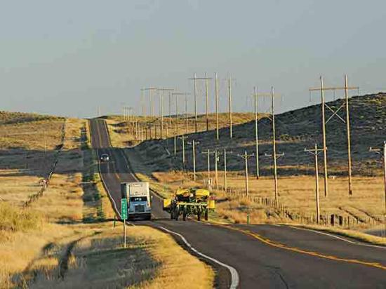 Safety is a shared responsibility between farm equipment and vehicle operators on rural roads. (DTN file photo)