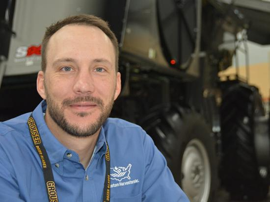 Ryan Haffner, who runs a custom-harvest business in western Kansas, said at the U.S. Custom Harvesters Inc. annual meeting Friday he hoped it would be easier to bring in H-2A guest workers in 2021 than it was last year. But the Biden administration on Monday issued new travel bans that will affect workers from South Africa, Europe, the United Kingdom and Brazil. (DTN photo by Chris Clayton)