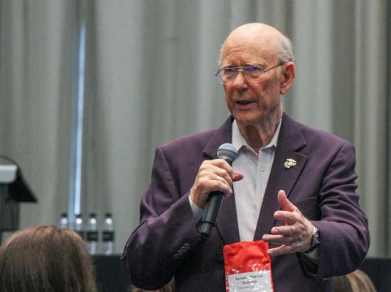 Former Senate Agriculture Committee Chairman Pat Roberts, R-Kan., speaking at the Ag Media Summit in Kansas City, Missouri. (Photo by Chris Clayton)