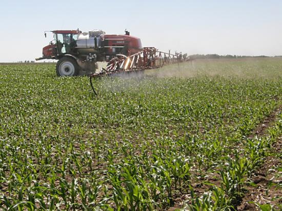 Spraying herbicides in high heat can cause problems with crop injury, weed response, evaporation and volatility, weed scientists warn. (DTN File photo by Greg Horstmeier)
