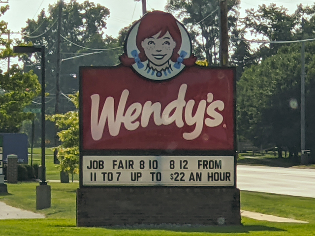 Many fast-food restaurants are offering $14-$16 dollars per hour or more. That rivals historical pay for farm equipment operators and is one of the forces pushing on-farm wages higher. (Photo courtesy of Lori Culler)