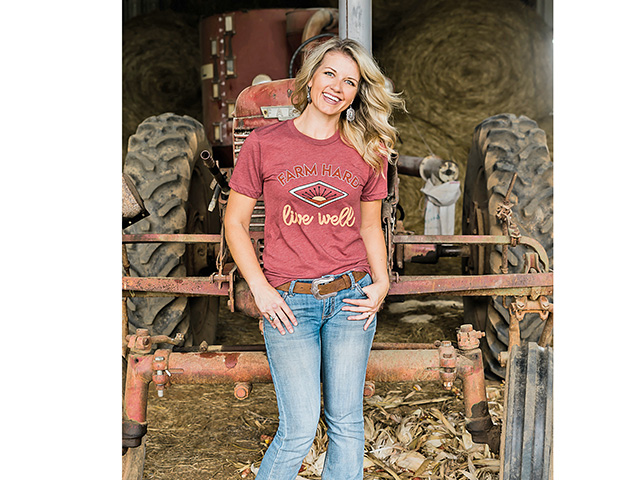 Working to raise a family on the farm and bring real farm stories to life for followers is important to Meredith Bernard, who admits she's as hooked on agriculture as she is on coffee. (Photo courtesy of Meredith Bernard)