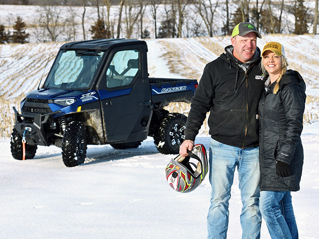 Klint and Aimee Bissell test drive the Polaris RANGER XP 1000 NorthStar Ultimate. (Progressive Farmer image by Jim Patrico)