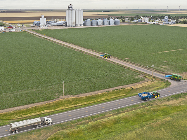 Schemper Harvesting splits its eight combines into four teams that can spread across the region. (Progressive Farmer image by Joel Reichenberger)