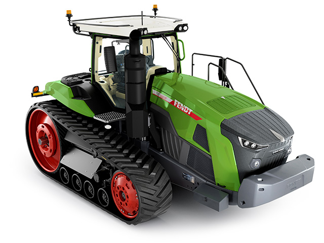 Fendt is bringing for the first time to North America two new tracked tractors, the 900 Vario MT and 1100 Vario MT (shown here). (Progressive Farmer image provided by Fendt)