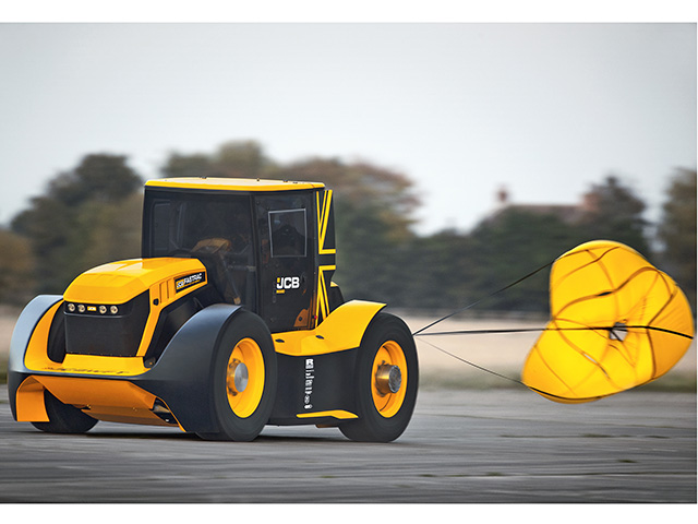 JCB's modified tractor reached a top speed of more than 150 mph. (Progressive Farmer image provided by JCB)