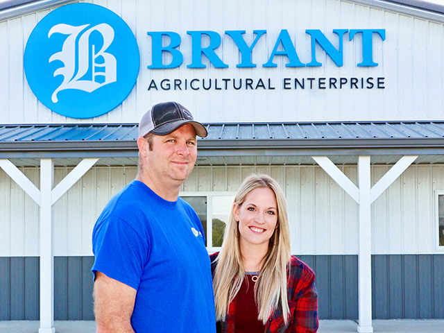 Cousins Heath Bryant and Kasey Bamberger (Progressive Farmer image by Des Keller)