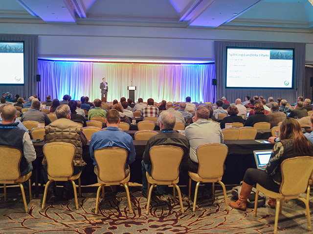 The 2020 DTN Ag Summit will not look like this, shot at a previous DTN Ag Summit in Chicago. This year we're going virtual. (DTN file photo)