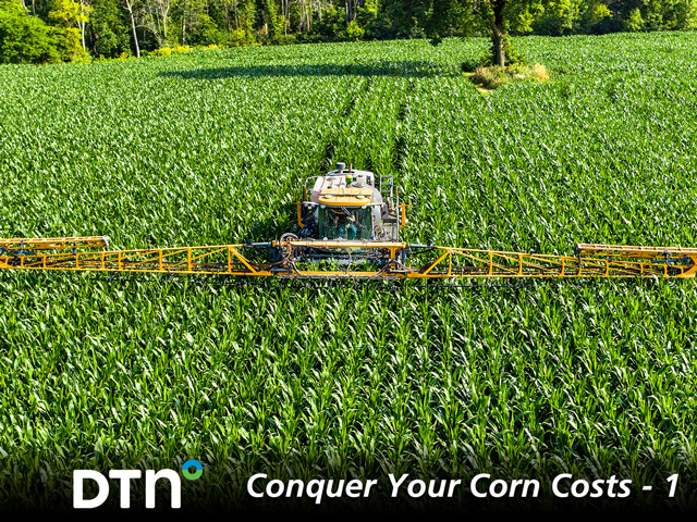 Some farmers have switched to 20-inch corn and multiple nitrogen applications to increase yields and revenue. (DTN/Progressive Farmer photo by Dave Charrlin)