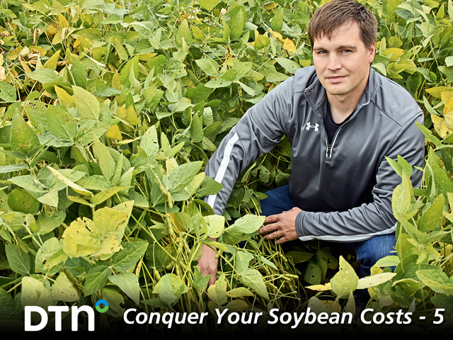 Experimenting to find optimal soybean seed rates is also helping reduce costs without sacrificing yield for David Beck of St. James, Minnesota. (DTN/Progressive Farmer photo by Kurt Lawton)