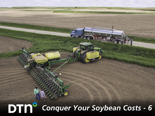 The right cocktail of in-furrow nutrients when planting soybeans help plants get off to a good start. (Photo courtesy of AgroLiquid)