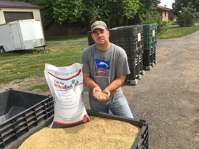 This summer and fall, Illinois farmer Chase Brown has been busy selling and spreading cover crop seed, which has been growing in popularity in his region. (DTN photo by Pamela Smith)
