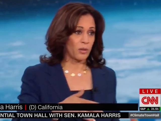California Sen. Kamala Harris, now running for vice president on the Democratic presidential ticket, talked about dietary guidelines and reducing red meat at a CNN event last fall. Vice President Mike Pence called out those comments in a speech on Thursday in Iowa. (DTN image from CNN video)