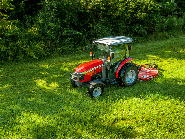 Massey Ferguson 2860 has a newly designed cab. (Photo courtesy of AGCO Corp)
