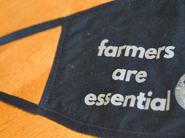 Before the Democratic National Convention, Joe Biden supporters sent out face masks championing farmers. Face masks remain controversial in rural areas, but the spread of the coronavirus is now hitting record levels in Midwestern and Plains states. (DTN photo by Chris Clayton)