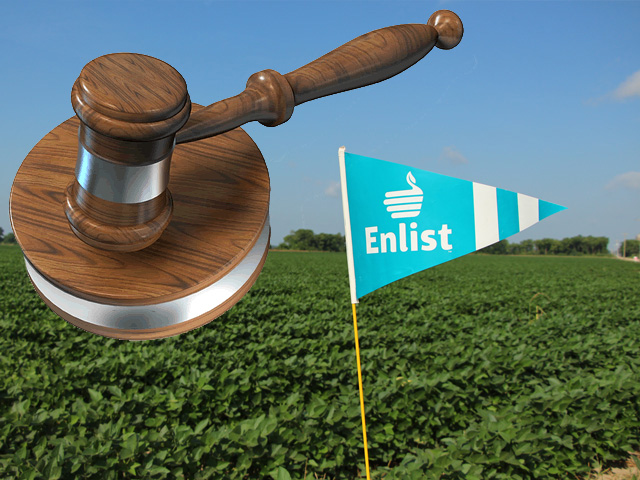 DTN is watching for a Ninth Circuit court ruling on a lawsuit against the Enlist Duo herbicide, with near identical claims to the recent court case that ended in the cancellation of three dicamba herbicides. (DTN illustration by Nick Scalise)