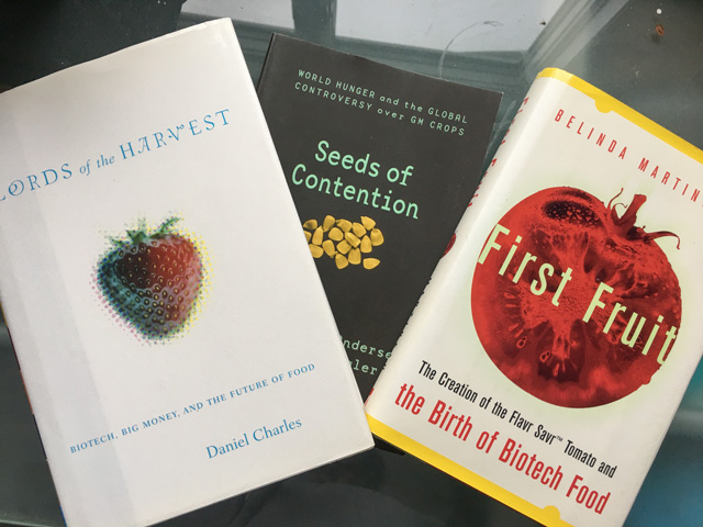 Need more details on genetic engineering? Here are a few favorite books from my library shelves. (DTN photo by Pamela Smith)