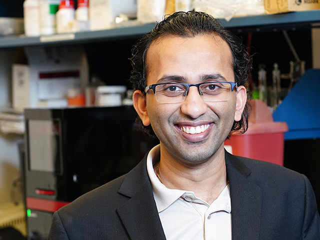 Purdue University researcher Mohit Verma started looking for ways to quickly diagnose BRD after a colleague told him how serious an issue it was for his operation. (Purdue University photo by Tom Campbell)