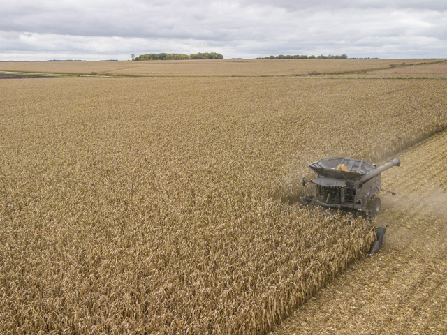 Combine sales are up in April, compared to April 2019 -- a better-than-expected result in these days of COVID-19. (Photo courtesy AGCO)