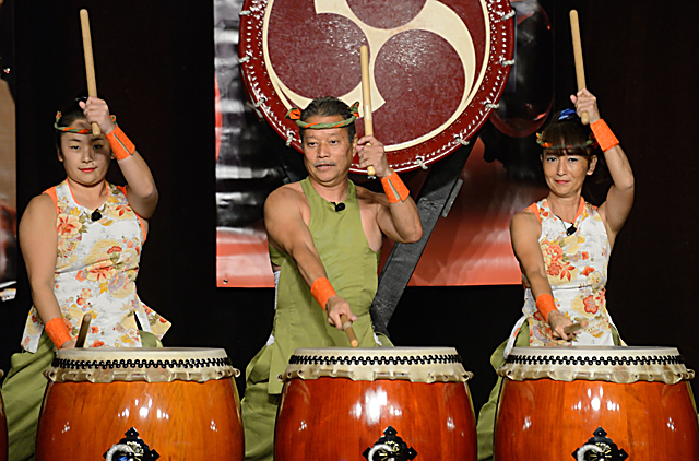 Traditional Taiko drummers helped launch the new Kubota tractor plant in Jefferson, Ga. (DTN/The Progressive Farmer photo by Jim Patrico)
