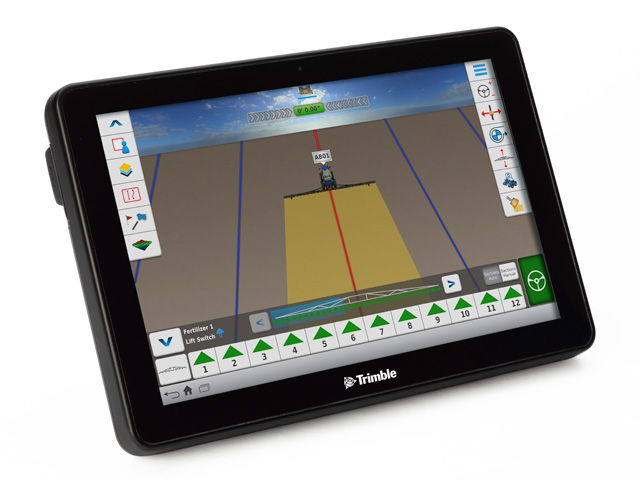 The new TMX-2050 display is one of the new products Trimble introduced at the summer farm shows. Photo courtesy of Trimble)