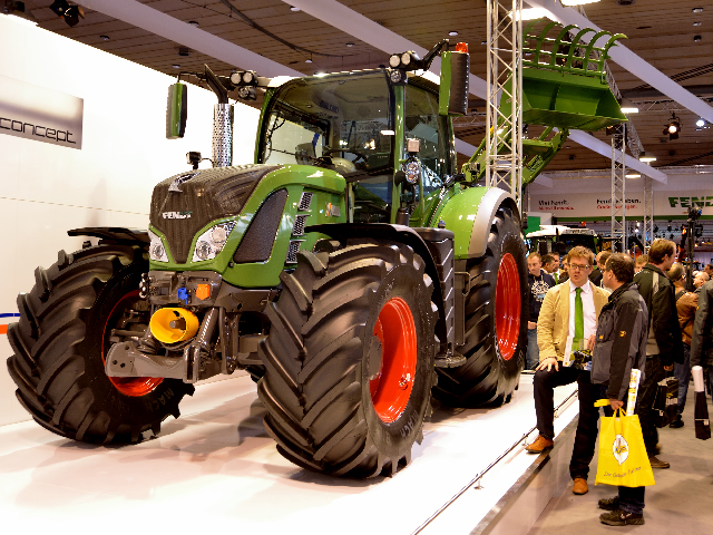 At AgriTechnica, Fendt introduced a research tractor that runs on diesel but generates enough electricity to power electric implements. Now if only we had electric implements. (DTN/The Progressive Farmer photo by Jim Patrico)